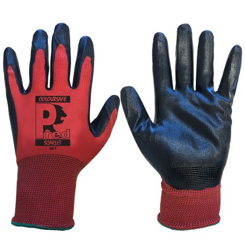 Predator Scarlet Nitrile Gloves by Ron